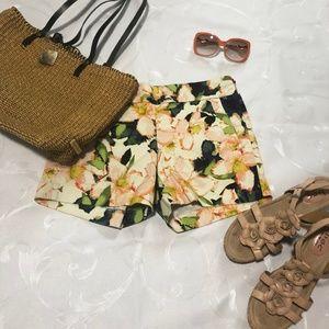 J. Crew floral print shorts